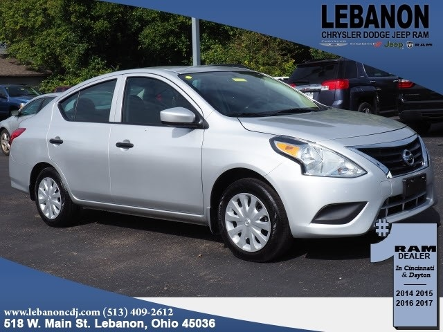 pre-owned 2017 nissan versa 1.6 s 4d sedan in lebanon #js314075aa
